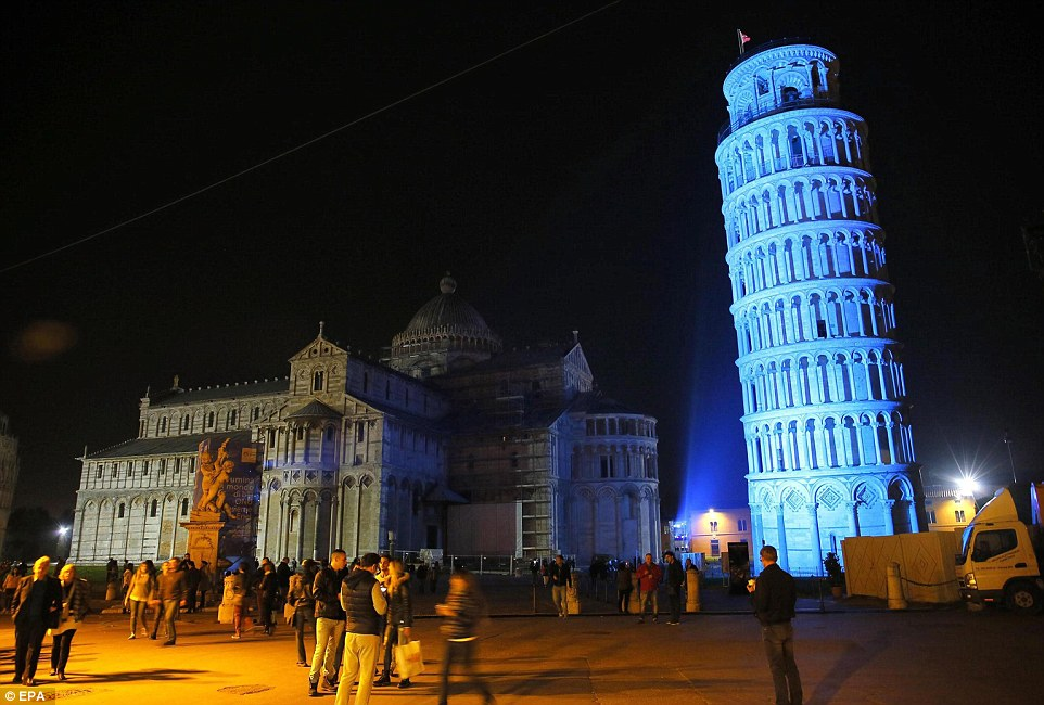 UN Day 70th anniversary, UN day celebration in Italy, Leading Tower of Pisa
