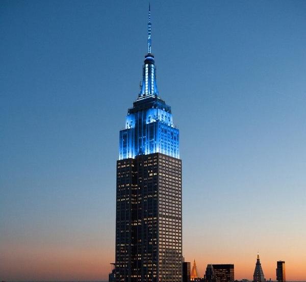 UN Day celebration, New York Empire state building, UN 70th anniversary