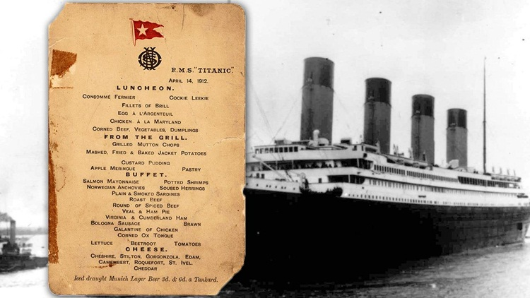 titanic dining menu, titanic 2 replica, titanic interesting facts