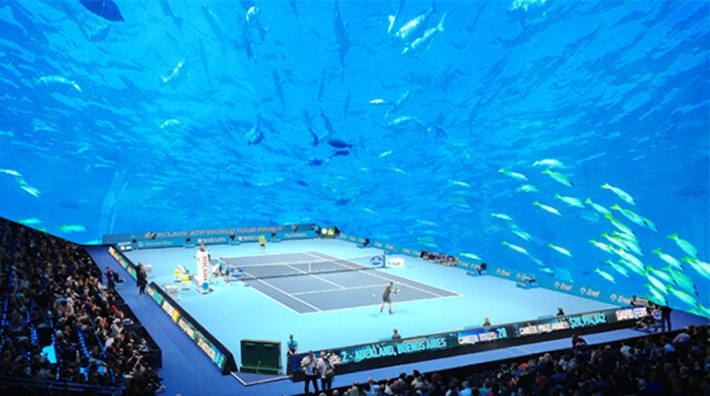 underwater tennis complex dubai, dubai places to visit, Dubai attractions