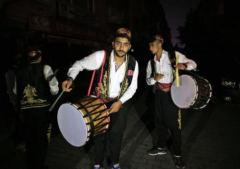 Istanbul ramadan, Ottoman traditions, Istanbul ramadan drummers