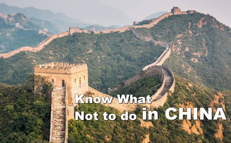 Things not to do in China, what not to do in China, China travel tips