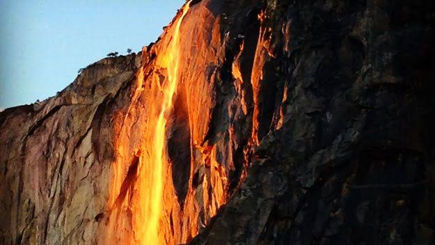 Yosemite National Park, California, Yosemite firefall, burning waterfall in california, Horsetail Fall, Ribbon Fall